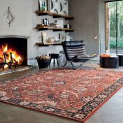 Kashqai 4335 300 Brick Traditional Wool Rug By Mastercraft