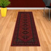 Kashqai 4345 300 Red Traditional Wool Runner By Mastercraft
