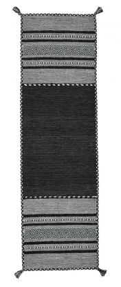 Kelim Charcoal Flatweave Runner by Oriental Weavers