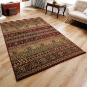 Kendra 135 R Red/Rust Traditional Rug by Oriental Weavers