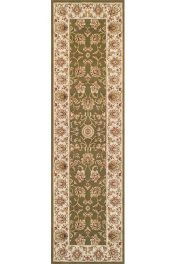 Kendra 3330 G Green Traditional Runner by Oriental Weavers