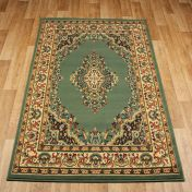 Keshan 112 G Green Aubusson Rug by Oriental Weavers