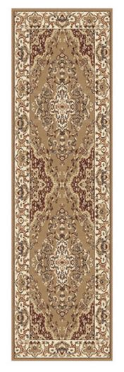 Keshan 112 J Beige Aubusson Runner by Oriental Weavers
