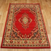 Keshan 112 R Red Aubusson Rug by Oriental Weavers
