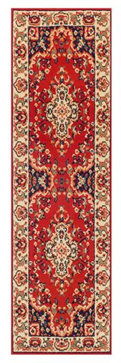 Keshan 112 R Red Aubusson Runner by Oriental Weavers