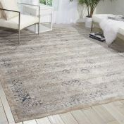 Malta MAI01 Ivory Blue Traditional Rug by Kathy Ireland
