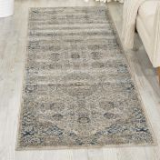 Malta MAI01 Ivory Blue Traditional Hallway Runner by Kathy Ireland