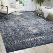 Malta MAI01 Navy Traditional Rug by Kathy Ireland