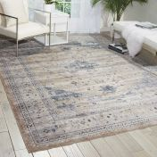 Malta MAI02 Beige Blue Traditional Rug by Kathy Ireland