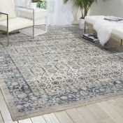 Malta MAI04 Ivory Blue Traditional Rug by Kathy Ireland