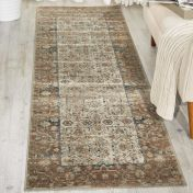 Malta MAI04 Taupe Hall Runner by Kathy Ireland