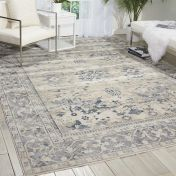 Malta MAI05 Ivory Blue Traditional Rug by Kathy Ireland