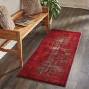 Nourison Karma KRM01 Red Runner
