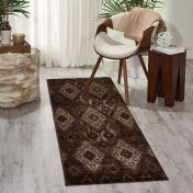 Nourison Karma KRM02 Chocolate Runner