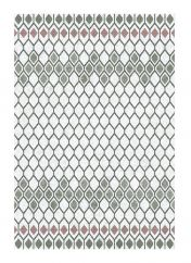 Liberty 034-0001-6111 White Grey Geometric Rug by Mastercraft