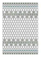 Liberty 034-0001-6151 White Grey Geometric Rug by Mastercraft
