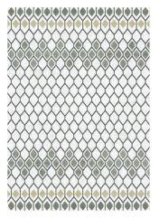 Liberty 034-0001-6191 White Grey Geometric Rug by Mastercraft