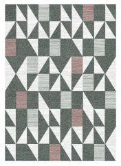 Liberty 034-0002-3111 Grey Geometric Rug by Mastercraft