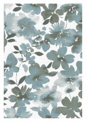 Liberty 034-0006-6151 Blue Floral Rug by Mastercraft