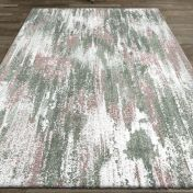 Liberty 034-0009-6111 Pink Abstract Rug by Mastercraft
