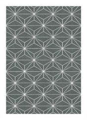Liberty 034-0024 3161 Grey Geometric Contemporary Rug by Mastercraft