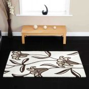 Lily Ivory Floral Wool Rug By Ultimate Rug
