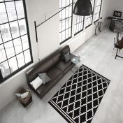Lina 200 Ivory Schwarz Modern Rug by Unique Rugs