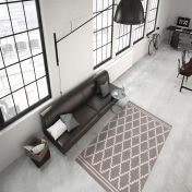 Lina 200 Taupe Ivory Modern Runner by Unique Rugs