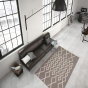 Lina 400 Taupe Ivory Modern Runner by Unique Rugs