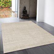 Linley Beige Plain Wool Rug by Asiatic