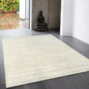Linley Ivory Plain Wool Rug by Asiatic
