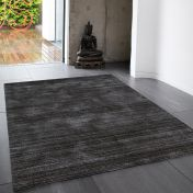 Linley Slate Plain Wool Rug by Asiatic