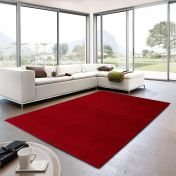 Livorno 010 Plain Red Rug By Unique Rugs