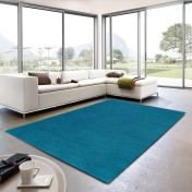 Livorno 023 Plain Blue Rug By Unique Rugs