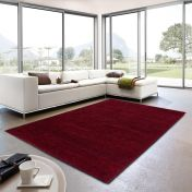 Livorno 160 011 Red Heather Plain Rug By Unique Rugs