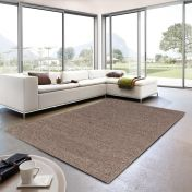 Livorno 160 062 Mottled Brown Plain Rug By Unique Rugs