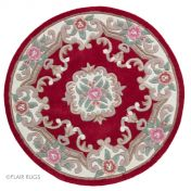 Lotus Premium Aubusson Red Wool Circle Rug By Flair Rugs