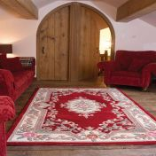 Lotus Premium Dynasty Wool Aubusson Red Rug by Flair Rugs