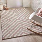 Lulu Pink Natural Wool Rug by Origins