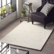 Lustrous Ivory Plain Rug by Origins