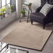 Lustrous Mink Plain Rug by Origins