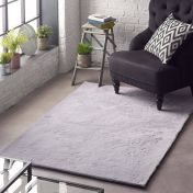 Lustrous Silver Plain Rug by Origins