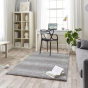 Maison 7727A White Light Grey Chequered Rug by Mastercraft