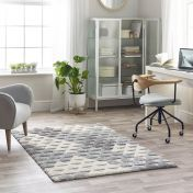 Maison 7873A White Light Grey Geometric Rug by Mastercraft