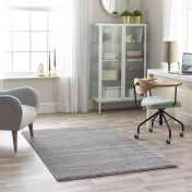 Maison 7887C Dark Grey Light Grey Striped Rug by Mastercraft