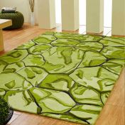 Unique Majestic Abstract Design Wool Rug by Prestige
