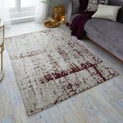 Manhattan Carter chenille Purple Rug by Flair Rugs