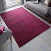 Manhattan Lenox chenille Fuchsia Rug by Flair Rugs