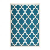 Manolya 2097 Turquoise Geometric Modern Rug by Unique Rugs