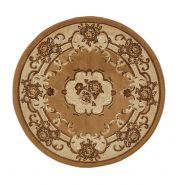 Marrakesh Beige Circle Traditional Rug By Think Rugs